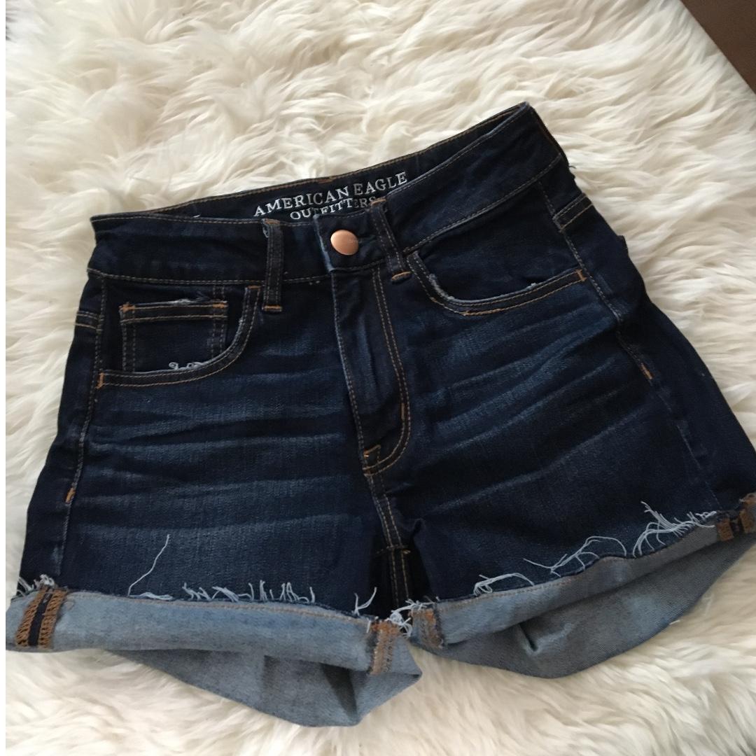 American Eagle Denim Shorts Size 2