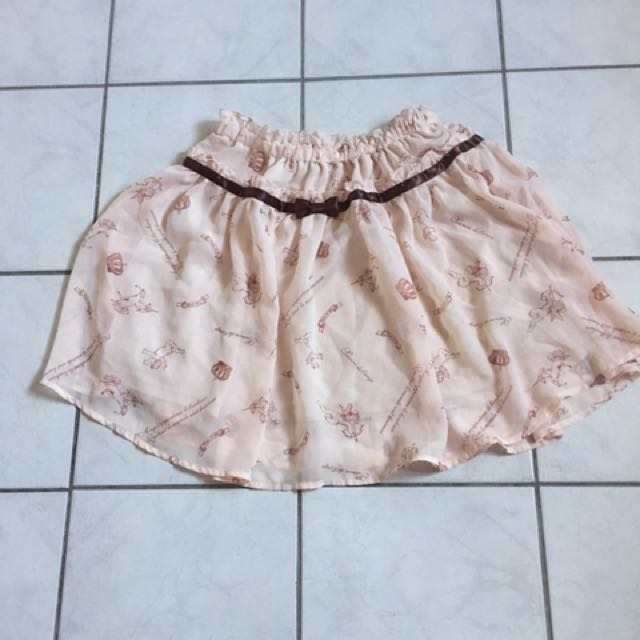 Ank Rouge baby pink mini skirt
