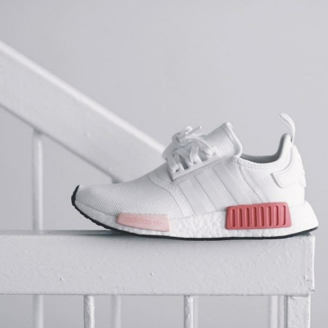 Authentic Adidas NMD R1 White Icey Rose Pink 4878e49fe