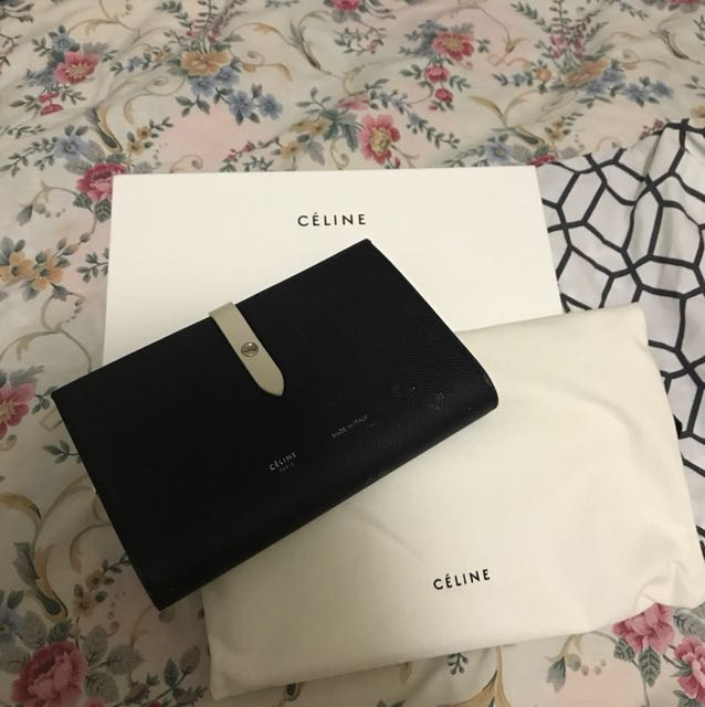 Authentic Celine Multifunction Strap Wallet