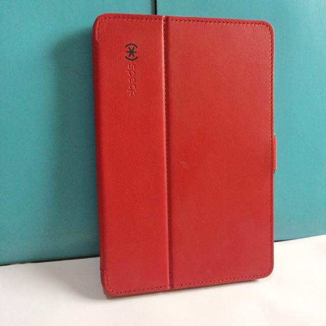 Authentic Speck ipad mini case in red