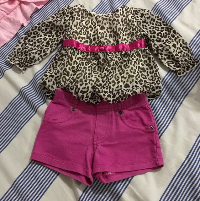 Baby girl blouse and short Terno