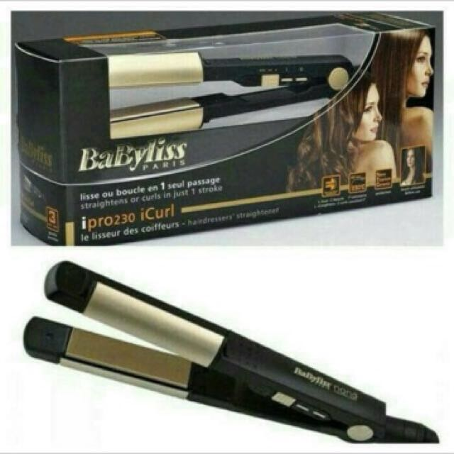 Babyliss gold ipro 230 icurl 3in1