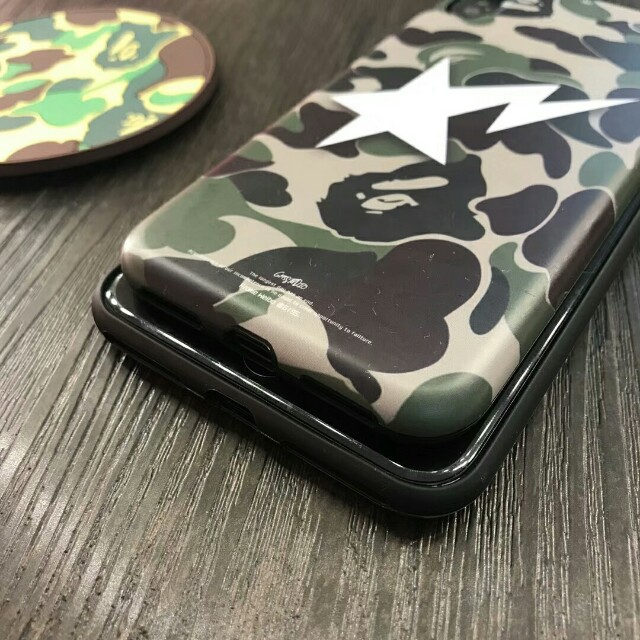 Bape|A Bathing Ape Camouflage High Quality Soft Shell Phone Case For iPhone 6/7/7plus/8/8plus/X
