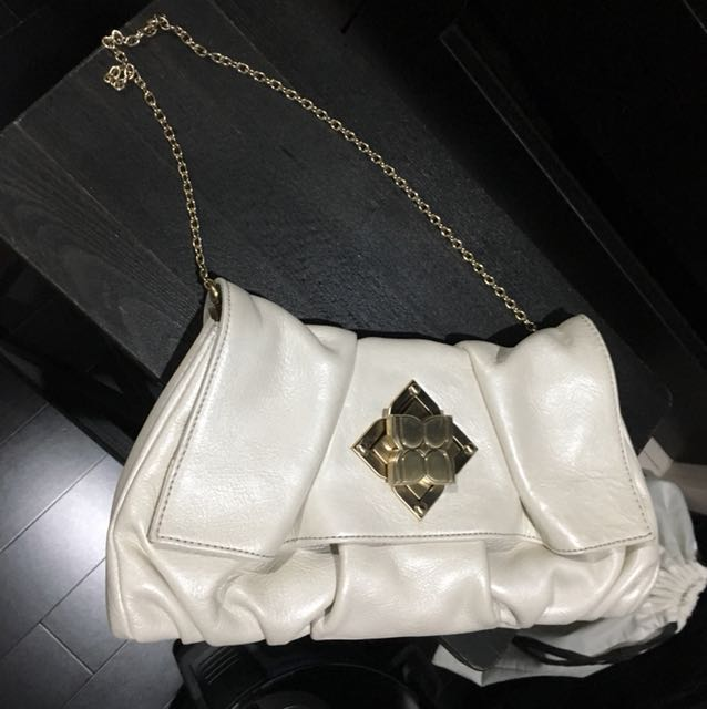 BCBG white clutch