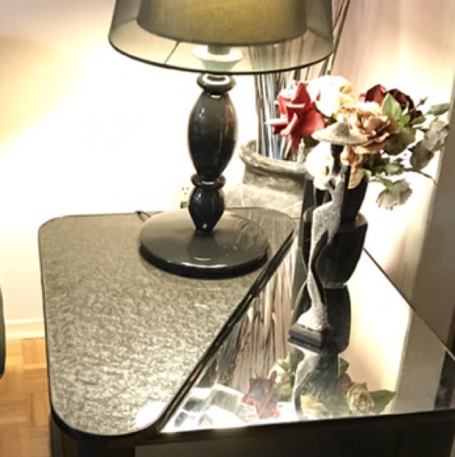 Beautiful black end or side table