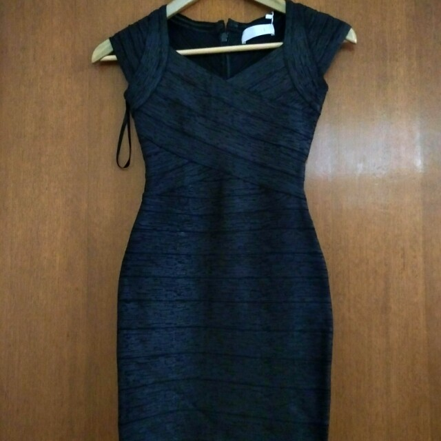 Black bandage dress RRP $290