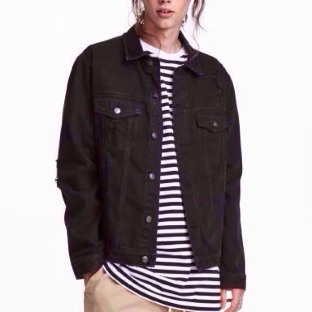 Black Denim Jacket (Free Shipping)