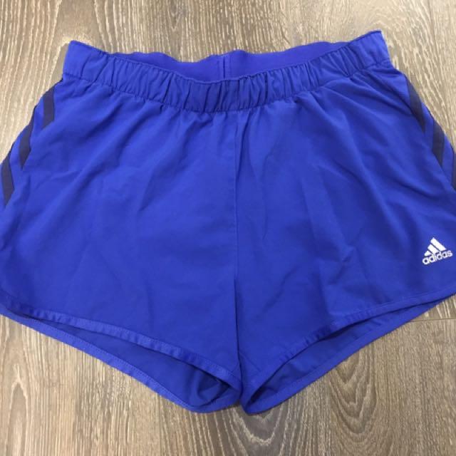 Blue Adidas Running Shorts