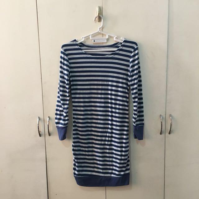 Blue body-con dress