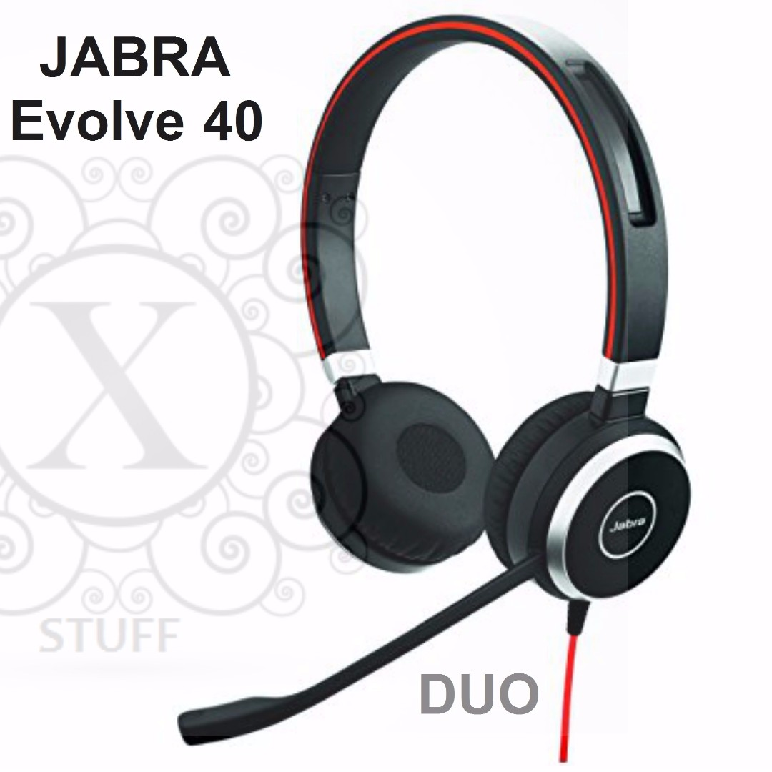 Bnew JABRA Headsets (EVOLVE Series- Evolve 40-DUO)