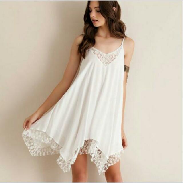 48c0346fba53d Bohemian white lace dress, Women's Fashion, Clothes, Dresses ...