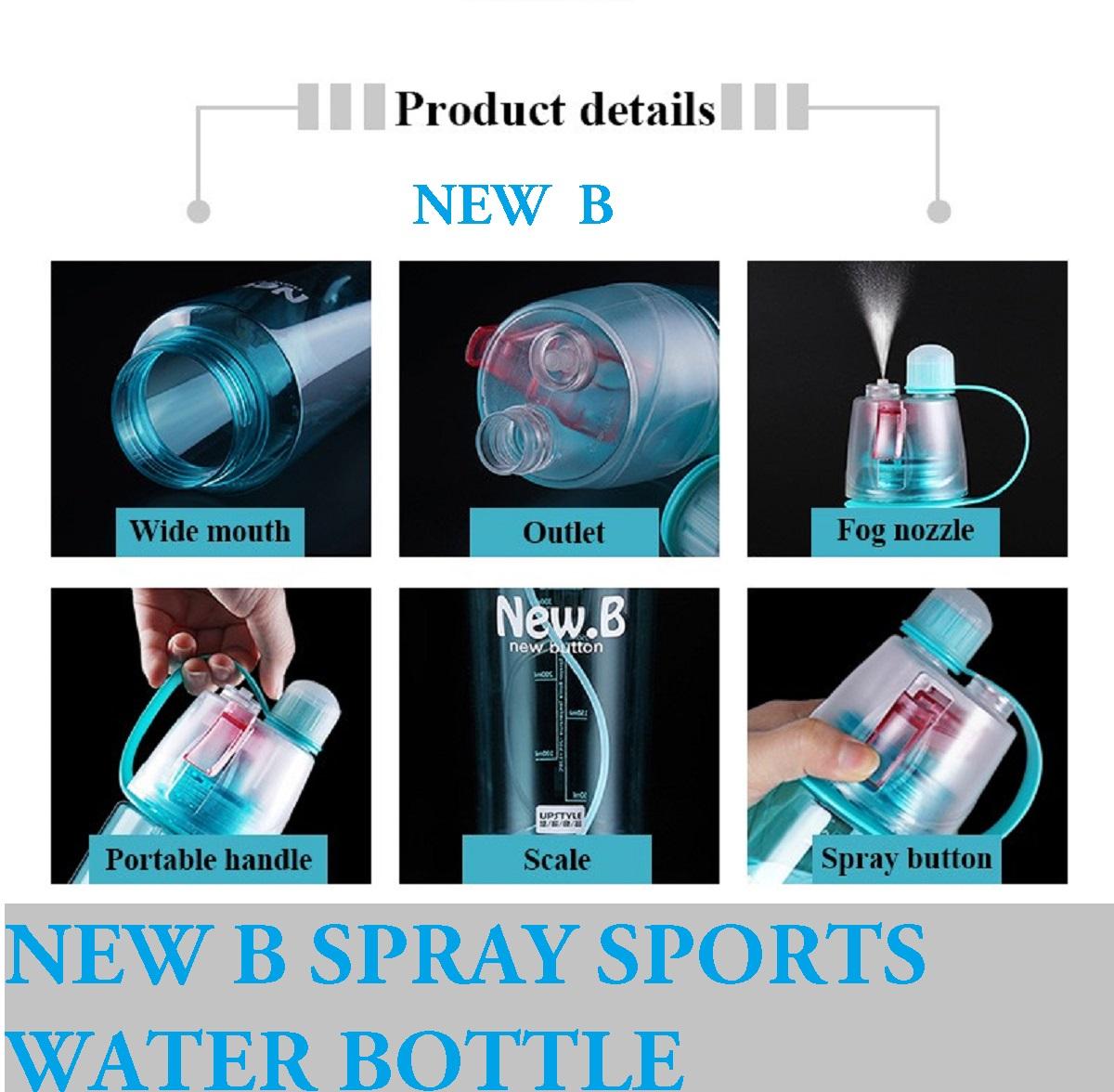 Botol Minum New B 600ml Bpa Pink Daftar Harga Terbaru Dan Dengan Spray Sport Bottle 600 Ml Free
