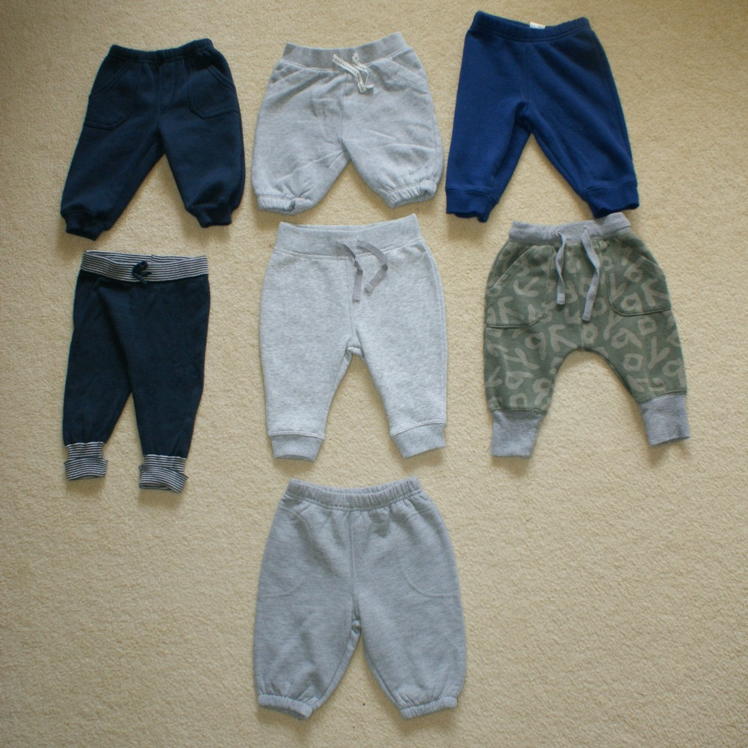 BOYS' SIZE 00 TRACKIES/PANTS (7X) – JACK & MILLY/BABY BABY/TINY LITTLE WONDERS