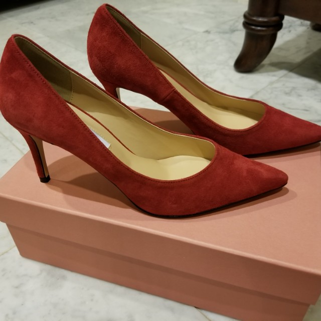 **BRAND NEW - A TERRE Real Suede Red Heels**