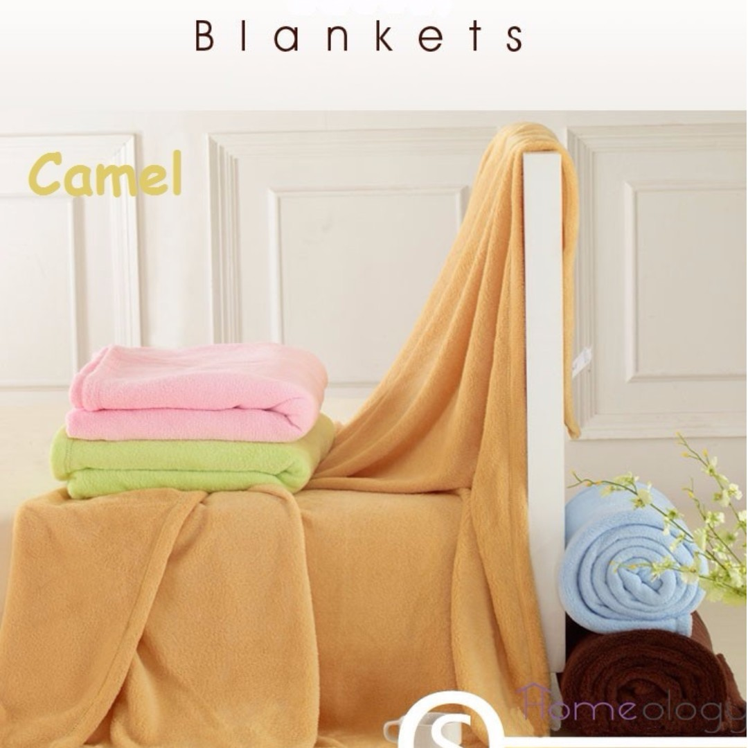 Camel Flannel Fleece Coral Blanket Bedding Set Soft Towel Bed Sheet Sarung Bantal For Comfy Baby Adjustable Brown Pillow Silk Blankets Air Con Room Furniture Others On Carousell
