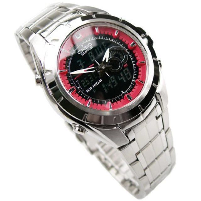 f9a0139a2497 Casio Edifice Analog Digital Thermometer Watch EFA119D1A4