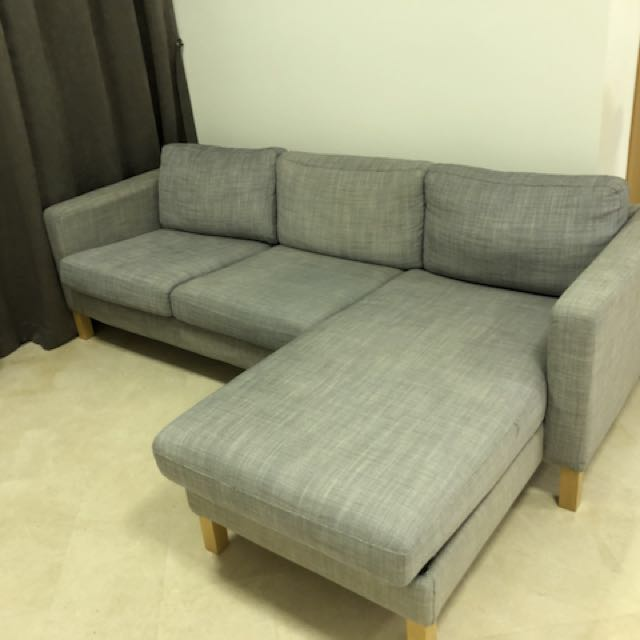 Classic L shaped corner sofa with chaise