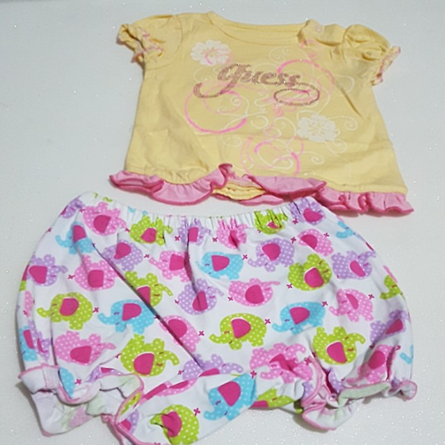 Clearance - Baby Girl Inspired Guess Top & Bottom Set