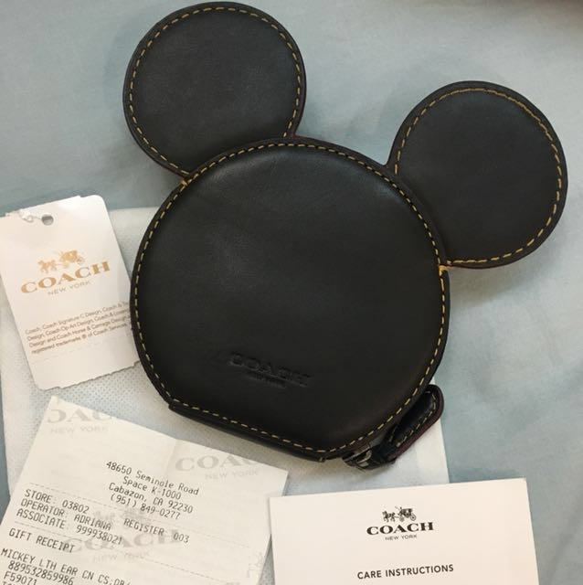 Coach 迪士尼聯名零錢包 黑色