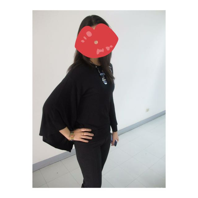 Cole Vintage black blouse