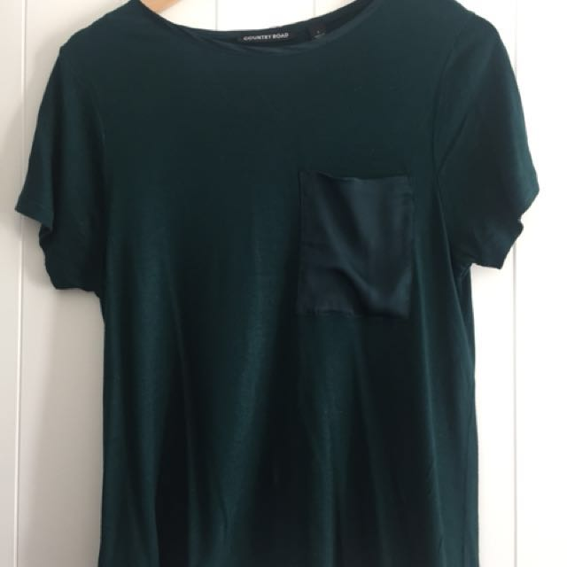 Country road green tee