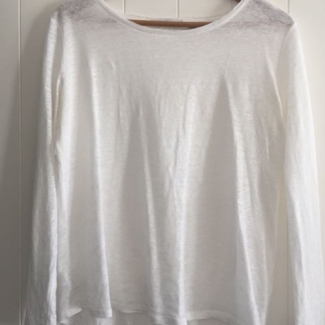 Country road white long sleeve