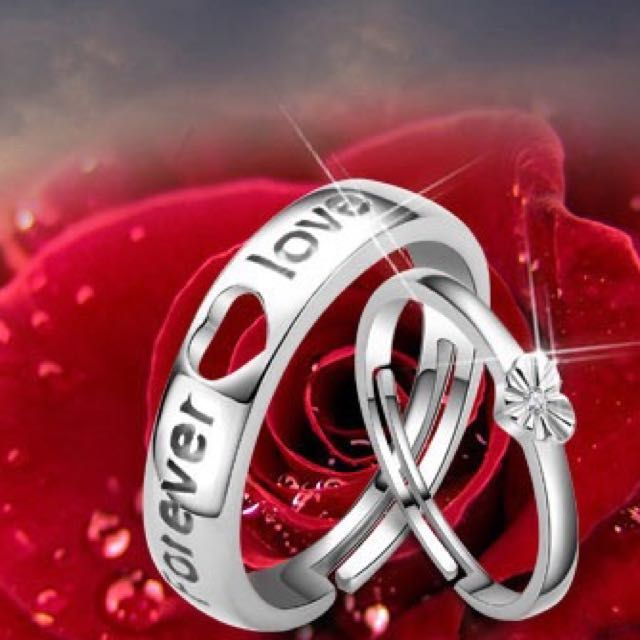 Couple Rings Valentine Day Gift Birthday Girlfriend