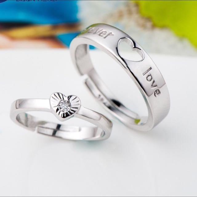 Couple Rings Valentine Day Gift Birthday Girlfriend Womens Fashion Jewellery On Carousell