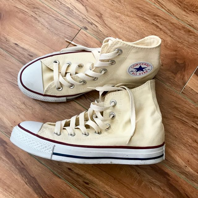 Cream colored converse