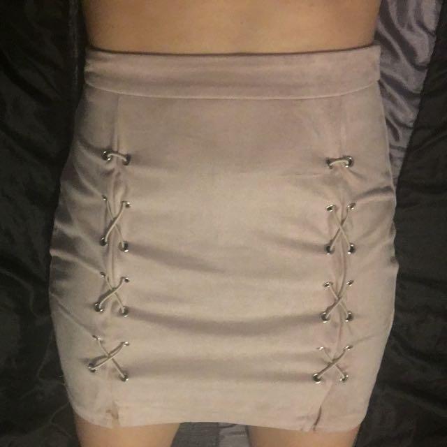 Cross Fabric Skirt