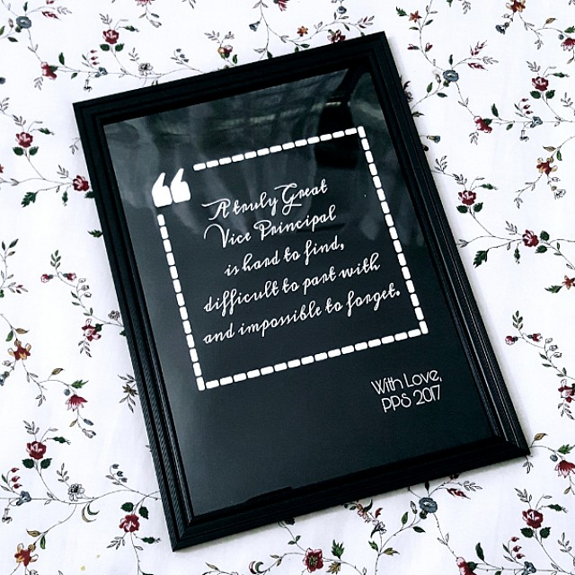 Customised Quote Frames