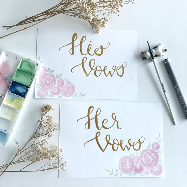 85ad81ac64b3 Customized Wedding Vow Cards + message set