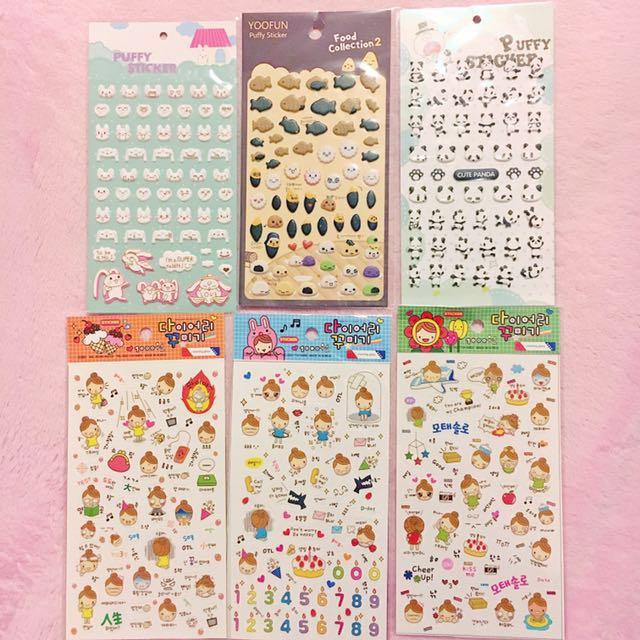 Cute planner stickers kawaii puffy clear sticker