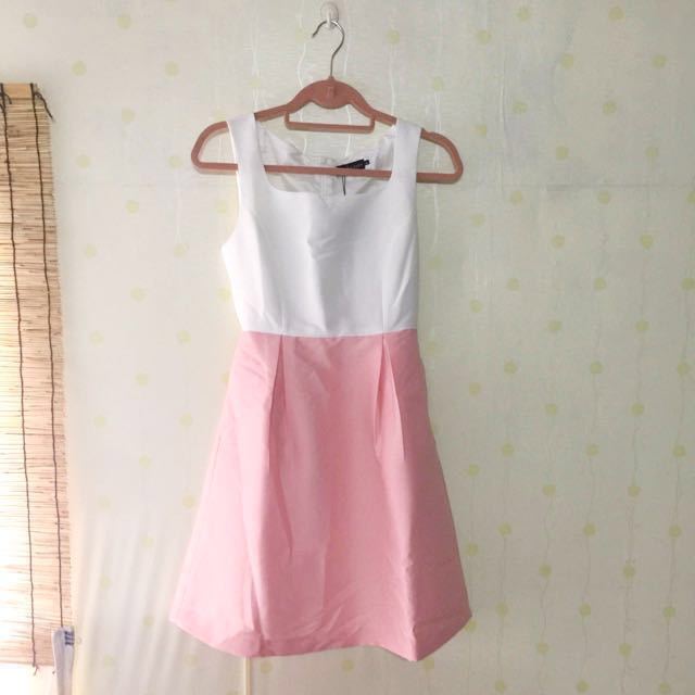 Duo-toned Pale Pink Dress