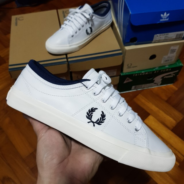 c396d79756 Fred Perry Kendrick Tipped Cuff White Leather US8 (fits like US8.5 ...
