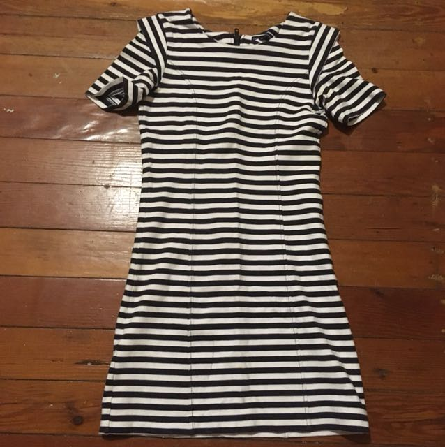French Connection Striped Cotton Dress