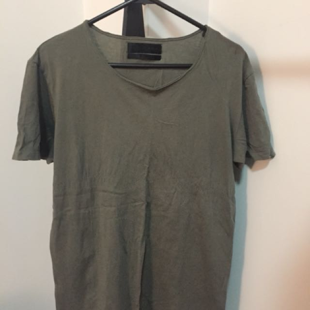 Green Zara man t Shirt