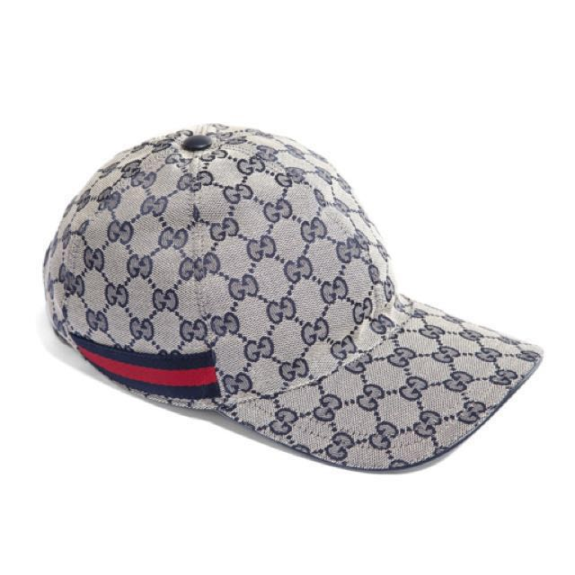 GUCCI ORIGINAL GG CANVAS BASEBALL HAT IN BLUE 0acc9229134