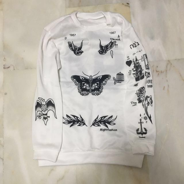 088821aad7d7 Harry Styles Tattoo Sweater