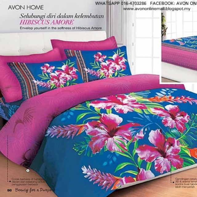 Hibiscus Amore Bedsheet Comforter Home Furniture Home Décor On
