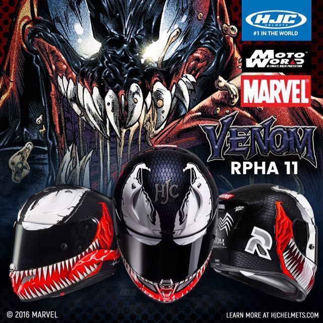 hjc rpha 11 marvel venom helmet motorbikes motorbike apparel on carousell. Black Bedroom Furniture Sets. Home Design Ideas