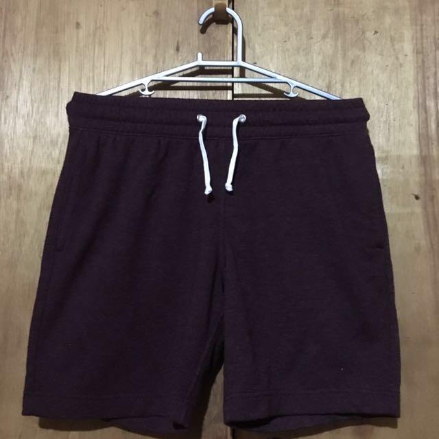 H&M Maroon Slim Shorts