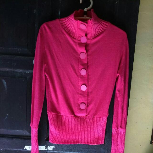 Kaos korea warna pink
