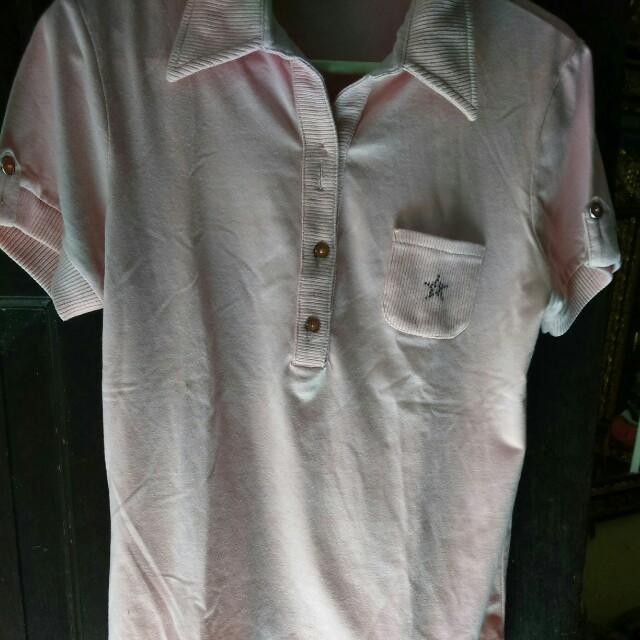 Kaos warna pink salem