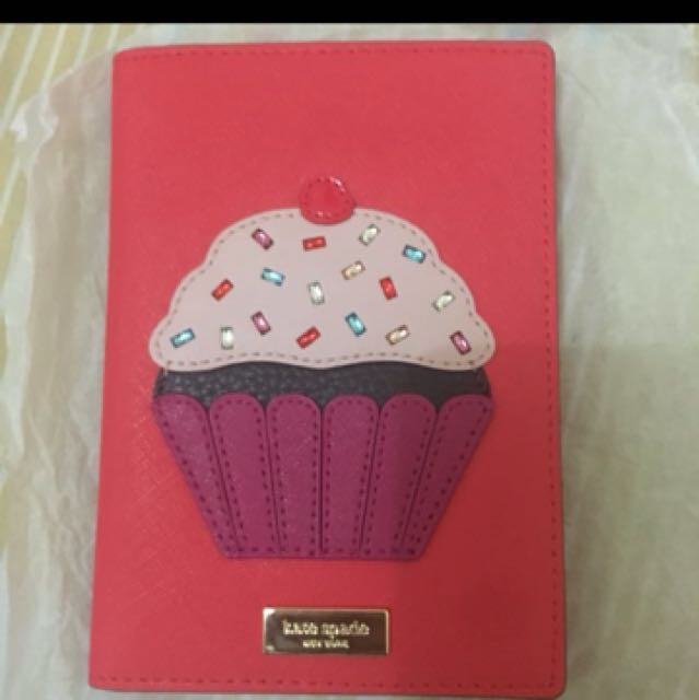 Kate spade cupcake passport holder complete with care card and paperbag :)