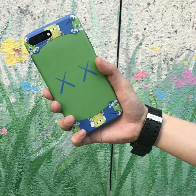 Kaws X Sponge Bob Crossover High Quality Durable Soft Shell Phone Case For iPhone 6/7/7plus/8/8plus/X