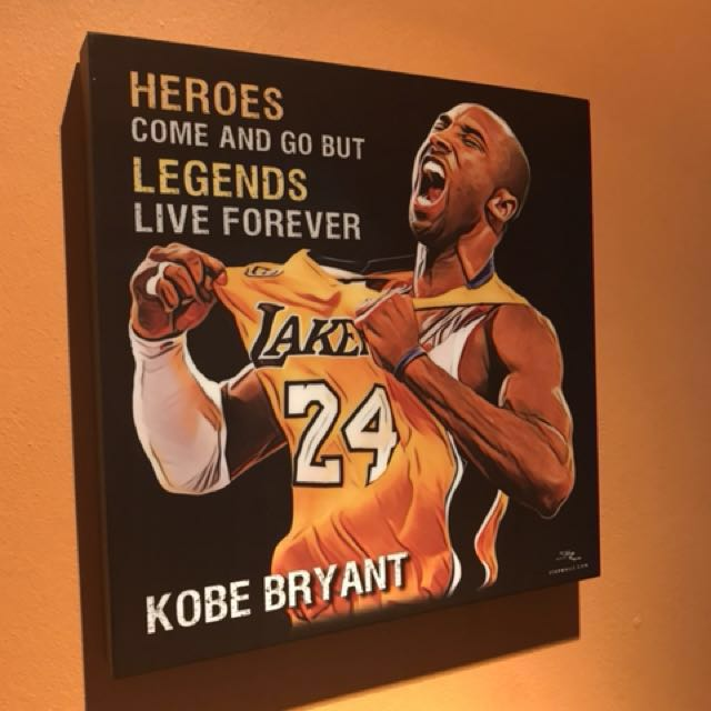Kobe Bryant LA Lakers : Pop Art Poster Frame, Design & Craft, Art ...