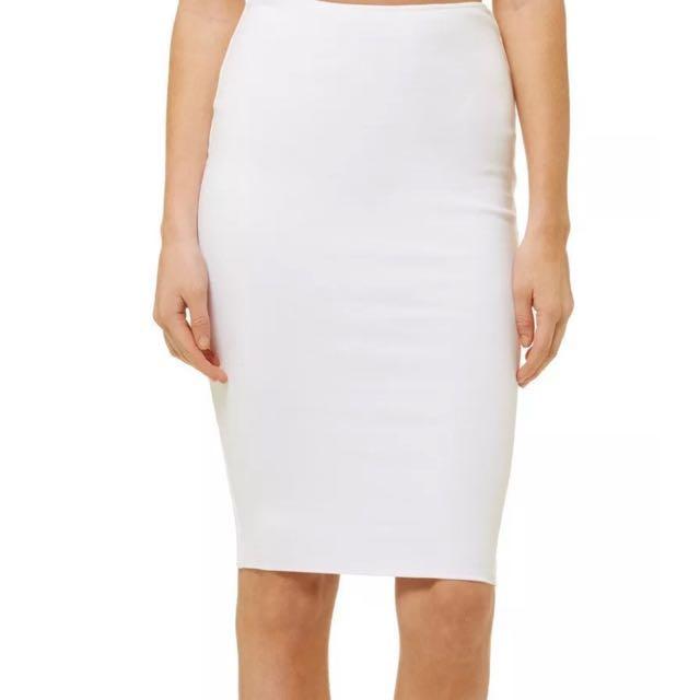 1e03e9a992 Kookai white midi skirt size 1, Women's Fashion, Clothes on Carousell