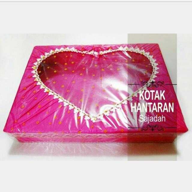 KOTAK SESERAHAN LOVE / BOX HANTARAN BENTUK LOVE TUTUP / KOTAK SESERAHAN